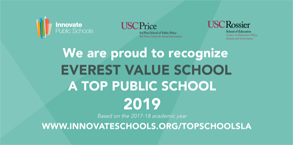 Innovate Public Schools Recognition for top public School to: Everest Value School
